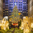 Stock Photo: Tree Lights Rockefeller Center