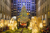 Tree Lights Rockefeller Center — Stock Photo