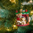 Reading Bears Ornament — Stock Photo