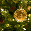 Golden Glass Ornament — Stock Photo