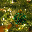 Green Glitter Ornament — Stock Photo