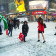 Stock Photo: Snow on 42nd St
