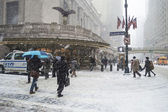Snowing Grand Central — Stock Photo