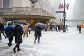 Snowy Grand Central — Stock Photo