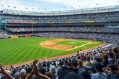 Crowded Yankee Stadium — Stock Photo