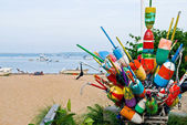 Bouys and Boats — Stock Photo