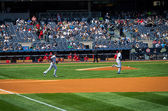 Jeter Takes the Field — Stock Photo