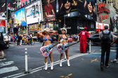 Naked Cowgirls Times Square — Stock Photo