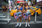 The Naked Cowgirls — Stock Photo