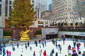 Rockefeller Center Tree View — Stock Photo