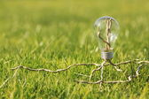 Lamp on the green grass — Stock Photo