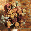 Stock Photo: Still life with dried roses
