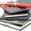 Calculator with note pad — Stock Photo #20833071