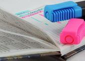 Notatnik i markerów — Zdjęcie stockowe