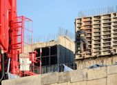 Industry, construction, cranes — Stock Photo