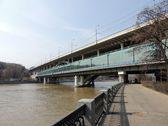 River , bridge — Stock Photo