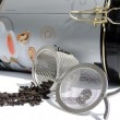 Stock Photo: Mesh tea