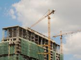 Construction of a building — Stock Photo