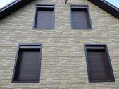 Window blinds, wall — Stock Photo