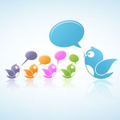 ソーシャル メディアの議論 — ストックベクタ