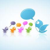 Discusión de los medios sociales — Vector de stock