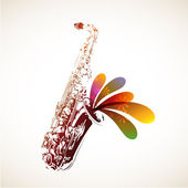 Colorful Sax — Vettoriale Stock