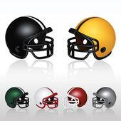 Football Helmets — Stock Vector