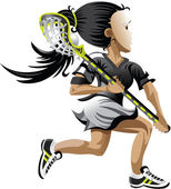 Lacrosse Girl — Stock Vector