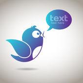 Social Media Message — Stock Vector