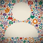 Sociala medier profil — Stockvektor