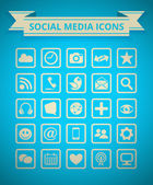 Social Media Icon Grid — Stockvektor