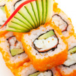 California Roll with Masago - Stock Photo