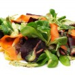 Salad from Vegetables and Roe Meat - Stock Photo