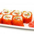 Japanese Cuisine - Rolls with Caviar - Stock Photo