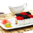 Japanese Cuisine - Rolls Chess - Stock Photo