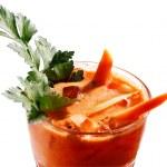 mrkev zdravý koktejl — Stock fotografie