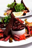 Sausage Plate — Stock Photo