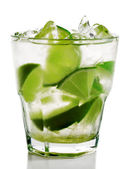 Cocktail - Caipirinha — Stock Photo