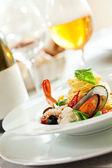морепродукты спагетти — Стоковое фото