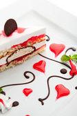 Valentines Day Dessert — Stock Photo