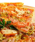 Piece of Meat Pizza — Stock Photo