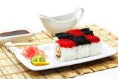Japanese Cuisine - Rolls Chess — Stock Photo