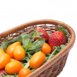 Stock Photo: Kumquats and strawberry