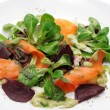 Vegetables and roe meals salad - Stock Photo