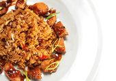 Pork with Fried Rice — Stock Photo