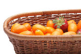 Kumquats an strawberry — Stock Photo