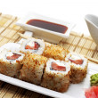 Japanese Cuisine - Hot Rolls - Stock Photo