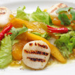 ������, ������: Vegetables and scallops salad
