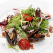 Salad with Crab Meat and Mussels - Stock Photo