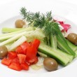 Vegetables Plate - Stock Photo